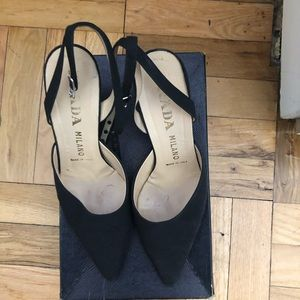 Prada vintage ankle strap shoes